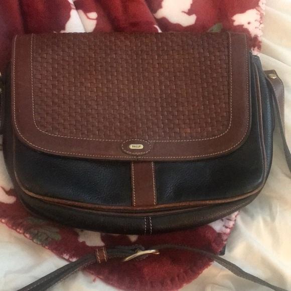 Bally Handbags - Vintage Bally Black and Brown Crossbody Bag